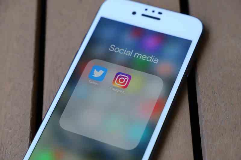 Instagram réseau social sur smartphone