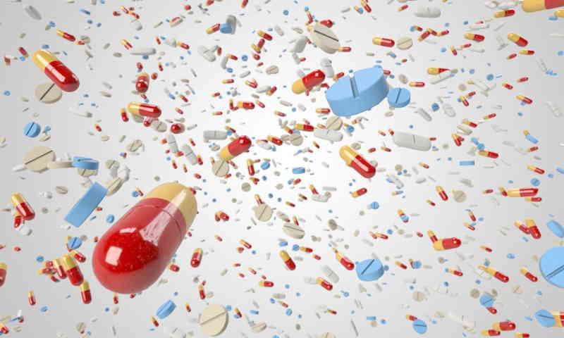 Traitement par les médicaments. Absorption chimique.