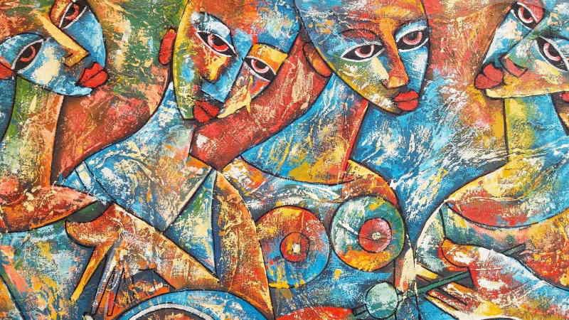 L'art est le résultat de nos pensées. Expression de la vision du monde.